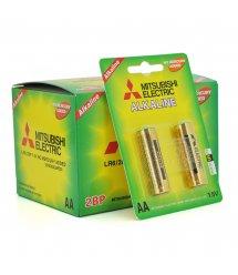 Батарейка щелочная MITSUBISHI 1.5V AA - LR6, 2pcs - card, 24pcs - inner box, 288pcs - ctn