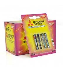 Батарейка Super Heavy Duty MITSUBISHI 1.5V AAA - R03, 4pcs - card, 48pcs - inner box, 576pcs - ctn