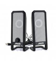 """Колонки 2.0 JEDEL JNS-12 USB+3.5mm, 4"""" 2x3W, 90Hz- 20KHz, с регулятором громкости, Black, BOX, Q20"""
