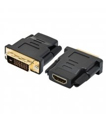 Переходник HDMI(мама) - DVI-I 24+5 (папа) Black Q50