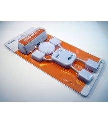 Хаб USB 2.0 4 порта (человечек), OEM Q250
