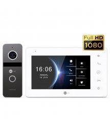 Комплект видеодомофона NeoKIT HD Graphite