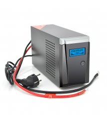 ИБП с правильной синусоидой RITAR RTSW-500 LCD (300Вт),12В, под внешний АКБ, Q4 (320*132*210) 4,2 кг (260*85*140)