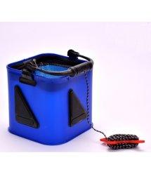 Рыболовный ящик- ведро для рыбы, цвет синий, размер24х24