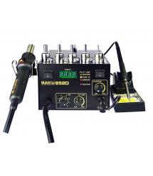 Паяльная станция BAKKU BK852D+ компрессорная, цифровая индикация, фен, паяльник (325*275*202) 4,46 кг