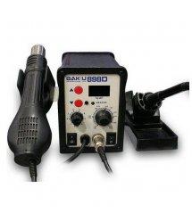 Паяльная станция BAKKU BK-898D цифровая индикация,паяльник + фен (260*170*157) 2,28 кг