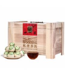 Китайский черный чай Pu`er Xinhui 8г деревянная упаковка Q45