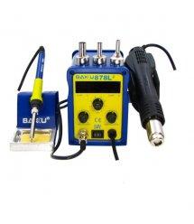 Паяльная станция BAKKU BK-878L2 цифровая индикация, фен, паяльник (260*173*165) 2,27 кг
