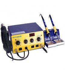 Паяльная станция BAKKU BK-603D цифровая индикация, фен, два паяльника (345x270x150) 4.48 кг