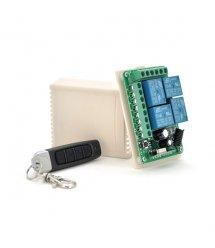 4-х полосный беспроводной пульт дистанционного управления, DC12V, 315MHZ - 433MHZ