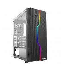 Корпус Antec NX230 Gaming, MidT, 2*USB2.0, 1*USB3.0, 1*120мм, акрил(бок.панель), без БП,черный
