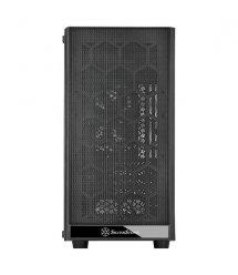 Корпус SilverStone PRECISION PS15B-G, MiniT, USB3.0Type-A*2, 1*120мм,стекло(бок.пан.),безБП,черный