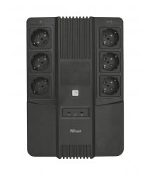ИБП Trust Maxxon 800VA UPS with 6 standard wall power outlets BLACK