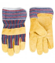 Topex Перчатки рабочие, желтый спилок, размер 10.5