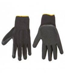 Topex Перчатки рабочие, х/б, сторона ладони с латексным покрытием, размер 10