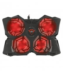 """Подставка для ноутбука Trust GXT278 YOZU COOLING (17.3"""") RED LED BLACK"""