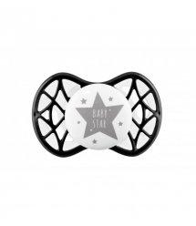 "Пустышка симметрическая Nuvita NV7065 Air55 Cool 0m+ ""BABY STAR"" черная"