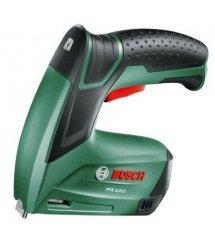 Степлер аккумуляторный Bosch PTK 3.6 LI, 1.3 Ач, 30 уд/мин, скобы 11.4, 0.8 кг