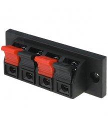 Зажим 4-pin JR6255 для динамика размер панели 70x24 мм