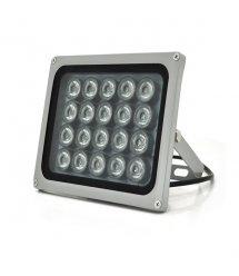 ИК прожектор YOSO 12V 40W, 20LED, IP66, 850Нм, угол обзора 60°, линза 8мм, дальность до 80м, 180*115*140мм, BOX