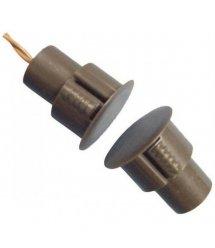Врезной магнитоконтакт коричневый , ток 60mA, напряжение 12B, тип контактов Н - З, рабочее расстояние 185% мм, габаритные размер