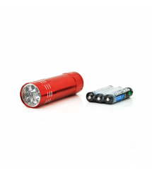 Карманный фонарик 5001-10, 1LED, Алюминий, Red