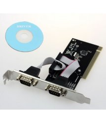 Контроллер PCI RS232(9Pin)+RS232(9Pin), 2 порта, TX382B-2S, BOX