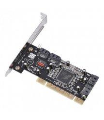 Контроллер PCI SATA 2.0, SIL3114, 1.5Gb / s, 4 порта внутренних, RAID, + кабель SATA, BOX