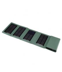 Power bank 8000 mAh Solar, 2xUSB, 5V / 1A / 2,1A, USB - microUSB, ударо защищеный прорезиненный корпус, White