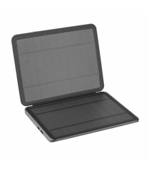Power bank 10000 mAh Solar, (5V / 200mA), 2xUSB, 5V / 1A / 2,1A, USB - microUSB, ударо защищеный прорезиненный корпус, Black,