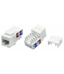 Модульный разъём OK-net Кат.5e UTP (90°, toolless) белый