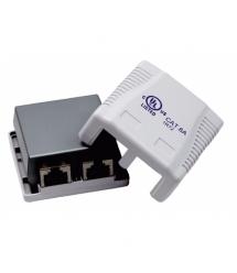 Розетка наружного монтажа OK-net 6a FTP, 2 порт