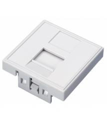 Модульная вставка OK-net, 45х45 1 порт (OK-MI108)
