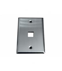 Лицевая панель OK-net 1 порт, metall