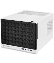 Корпус SilverStone SUGO SG13WB, MiniITX, USB3.0*2, сетка (передняя панель),безБП,белый/черный