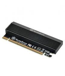 SilverStone Плата-адаптер PCIe x4 для SSD m.2 SATA + NVMe Thermal Solution