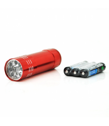 Карманный фонарик Bailong BL-С709, 1LED, 1 режим, корпус- алюминий, питание 3*АА, 85*25мм, Red, ОЕМ