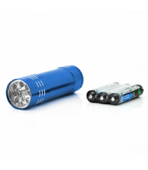 Карманный фонарик Bailong BL-С709, 1LED, 1 режим, корпус- алюминий, питание 3*АА, 85*25мм, Blue, ОЕМ