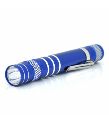 Карманный фонарик, 1LED, 1 режим, корпус- алюминий, питание 2*АА, 143*19мм, Blue, ОЕМ