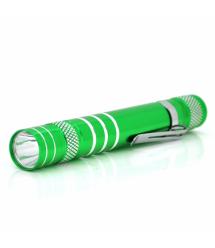 Карманный фонарик 1LED Алюминий 2*АА Green