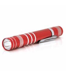 Карманный фонарик 1LED Алюминий, Red