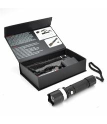 Фонарик ручной WD-807 Zoom Алюминий, Black