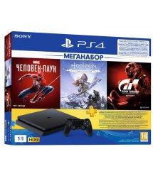 Игровая приставка PlayStation 4 1ТВ в комплекте с 3 играми и подпиской PS Plus