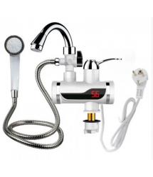 Проточный Водонагреватьль Delimano SHOWER + Душ, мощность 3 кВт, белый, Box