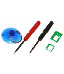 Набор инструментов BAKKU BK7296 для iPhone (Отвертки +1.3 и звезда 0.8, Nano-sim адаптер, присоска)
