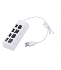 Хаб USB 2.0 4 порта 480Mbts High Speed White