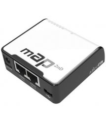 2.4GHz Wi-Fi точка доступа с 2-портами Ethernet для домашнего использования mAP (RBmAP2nD)