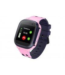 Детские телефон-часы с GPS трекером GOGPS ME K16 Розовые