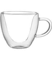 Набор чашек с ручками Ardesto с двойными стенками, 300 мл, H 9,5 см, 2 шт, боросиликатное стекло
