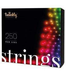 Twinkly Smart LED ГирляндаTwinkly Strings RGB 250, BT+Wi-Fi, Gen II, IP44, кабель черный